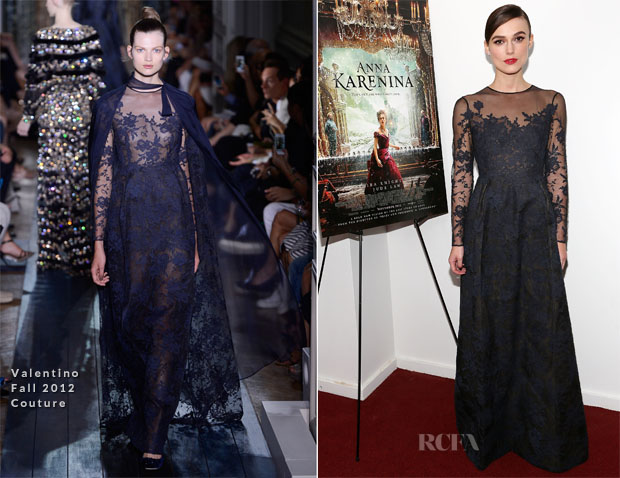 Keira Knightley In Valentino Couture - 'Anna Karenina' New York Screening