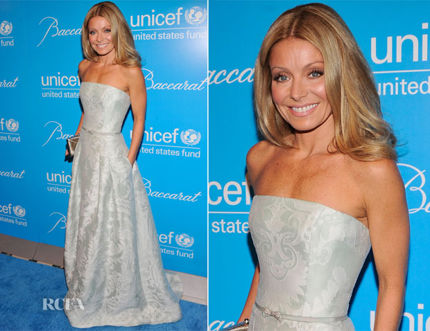 Kelly Ripa In Carolina Herrera - UNICEF Snowflake Ball