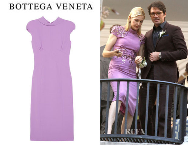 Kelly Rutherford's Bottega Veneta Crepe Dress