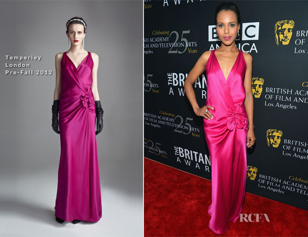 Kerry Washington In Temperley London - 2012 BAFTA Los Angeles Britannia