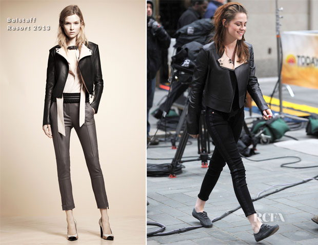 Kristen Stewart In Belstaff & Hudson - The Today Show