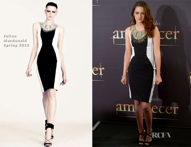 Kristen Stewart In Julien Macdonald - 'The Twilight Saga Breaking Dawn – Part 2' London Premiere