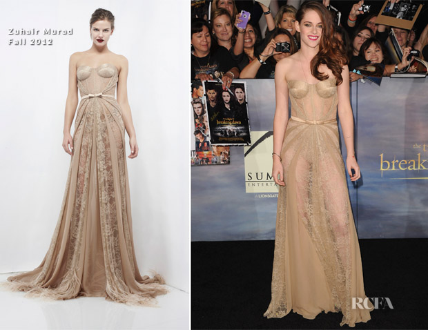 Kristen Stewart In Zuhair Murad - 'The Twilight Saga Breaking Dawn - Part 2' LA Premiere