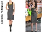 Kristen Stewart's Narciso Rodriguez Tweed Silk Pencil Dress