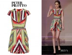 Kristen Stewart's Peter Pilotto Damask Printed Silk Dress