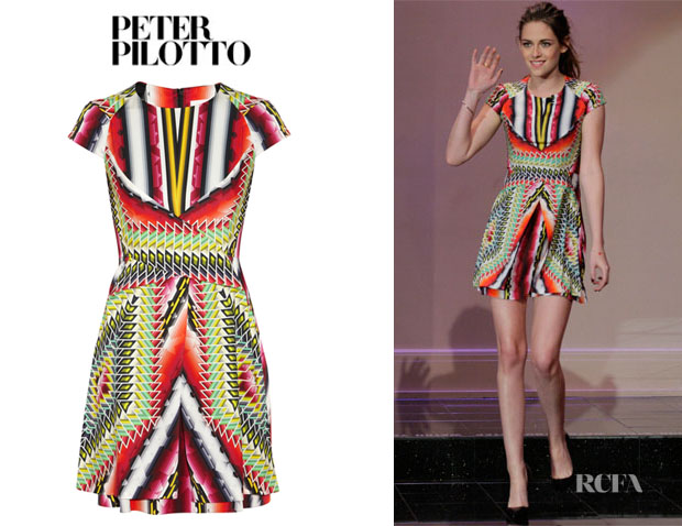 Kristen Stewart's Peter Pilotto Che V Printed Dress
