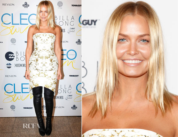 Lara Bingle In Josh Goot - Cleo Annual Swim Party