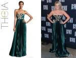 Lauren Alaina's Theia Strapless Beaded Gown