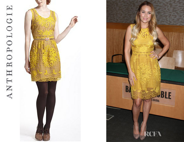 Lauren Conrad's Anthropologie Honeycomb Lace Dress