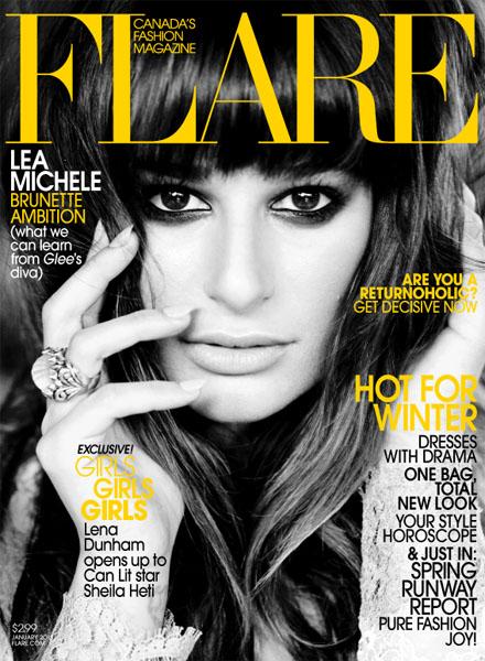 Lea Michele Flare Magazine