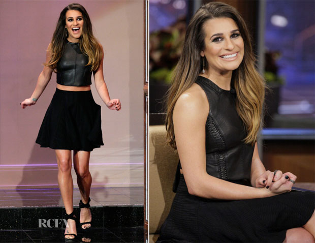 Lea Michele In Rag & Bone - The Tonight Show with Jay Leno
