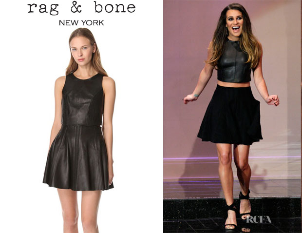 Lea Michele's Rag & Bone Renard Leather Top