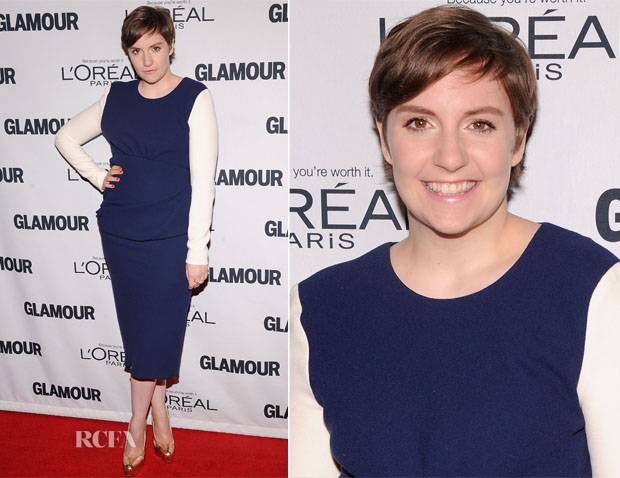 Lena Dunham In Roksanda Ilincic - 2012 Glamour Women of the Year Awards