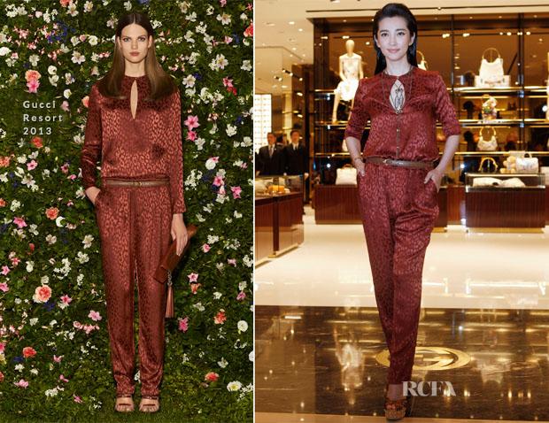 Li Bingbing In Gucci - Gucci Taipei Flagship Boutique Opening