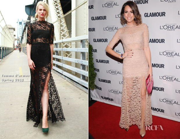 Louise Roe In Femme D'armes - 2012 Glamour Women of the Year Awards