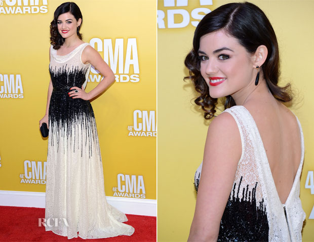 Lucy Hale In Moschino - 2012 CMA Awards