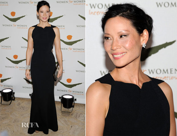Lucy Liu In Roland Mouret - 2012 Women For Women International Gala