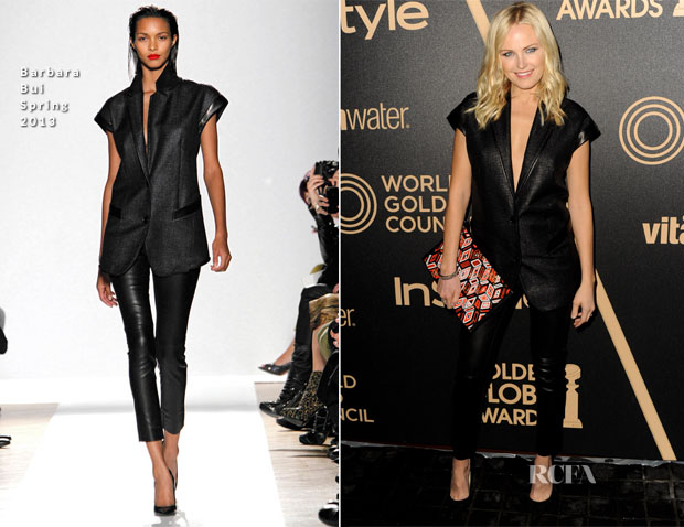 Malin Akerman In Barbara Bui - The Hollywood Foreign Press Association And InStyle Miss Golden Globe 2013 Party