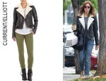 Mandy Moore's Current/Elliott Shearling Biker Jacket