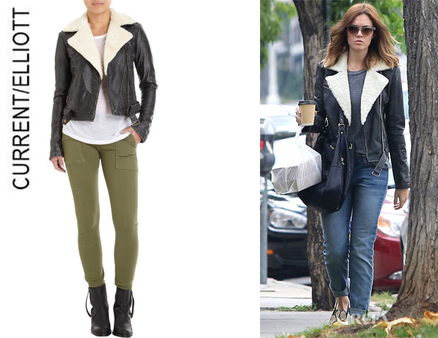Mandy Moore's CurrentElliott Shearling Biker Jacket