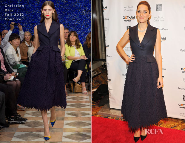 Marion Cotillard In Christian Dior Couture - 2012 Gotham Independent Film Awards