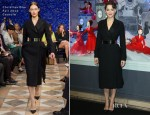 Marion Cotillard In Christian Dior Couture - Printemps Haussmann Christmas Illuminations
