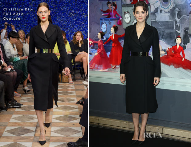 Marion Cotillard In Christian Dior - Printemps Haussmann Christmas Illuminations