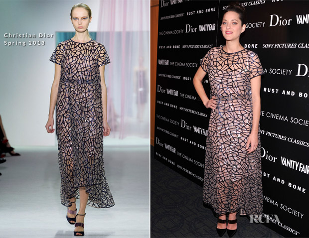 Marion Cotillard In Christian Dior - 'Rust and Bone' New York Premiere copy