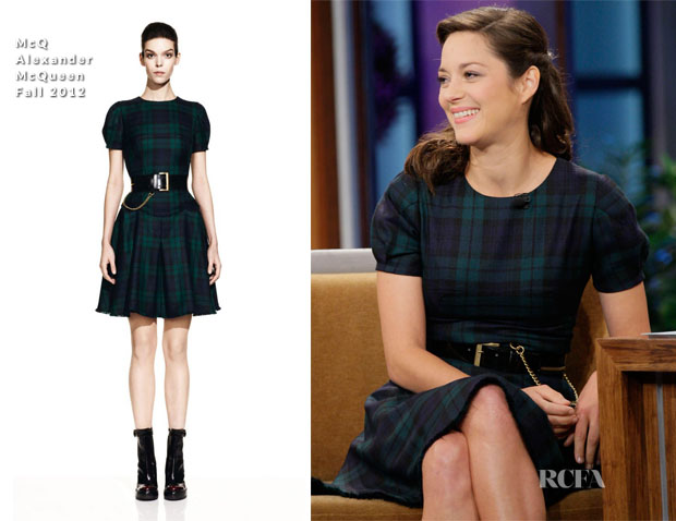 Marion Cotillard In McQ Alexander McQueen - The Tonight Show with Jay Leno