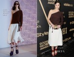 Mary Elizabeth Winstead In Louis Vuitton - The Hollywood Foreign Press Association And InStyle Miss Golden Globe 2013 Party