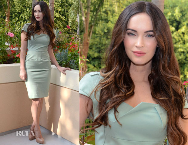 Megan Fox In Roland Mouret - 'This Is 40' LA Press Conference