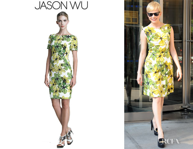 Michelle Williams' Jason Wu Floral Print Faille Dress