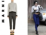 Miley Cyrus' Marni Tipped Turtleneck Sweater