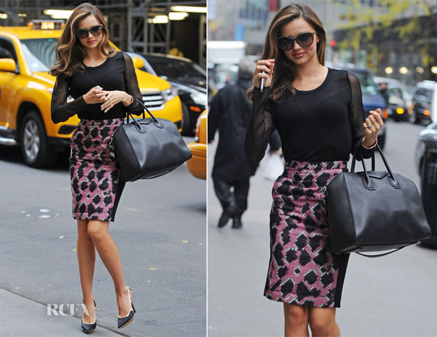 Miranda Kerr In Balenciaga - Out In New York City