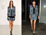 Miranda Kerr In Helmut Lang - 2012 Footwear News Achievement Awards