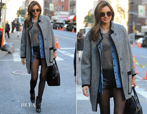 Miranda Kerr In Isabel Marant - Out In New York City