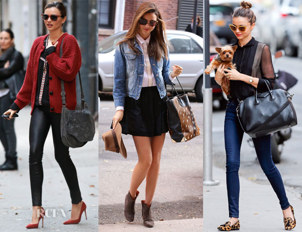 Miranda Kerr's Thanksgiving Weekend Street Style Looks