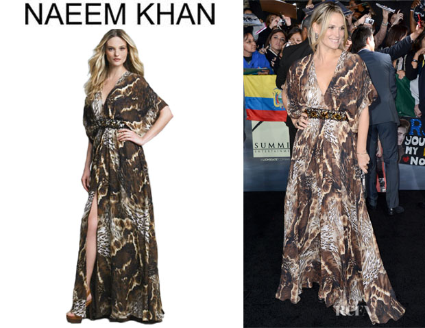 Molly Sims' Naeem Khan Printed Maxi Caftan copy