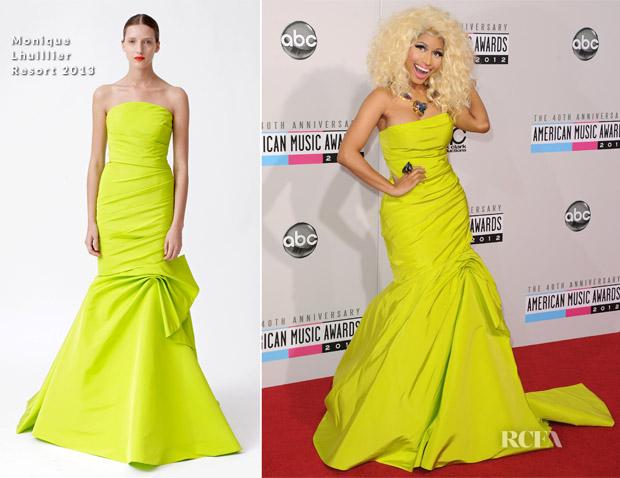 Nicki Minaj In Monique Lhuillier - 2012 American Music Awards