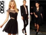 Nicole Scherzinger's ASOS Skater Dress And ASOS Cropped Statement Blazer