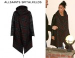 Nicole Scherzinger's All Saints Check Gaboury Parka