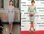 Nieves Alvarez In Emilio Pucci - Vogue & Mario Testino December Issue Launch Event