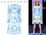 Nieves Alvarez' Juan Vidal Diamond Print Dress