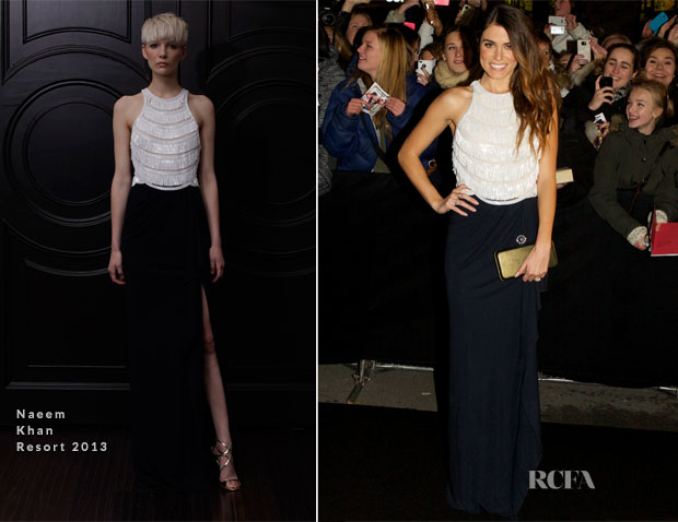 Nikki Reed In Naeem Khan - 'The Twilight Saga Breaking Dawn – Part 2' Oslo Premiere