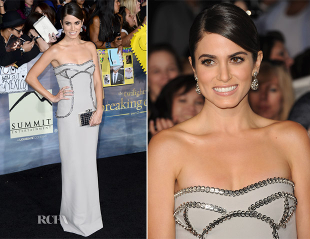 Nikki Reed In Versace - 'The Twilight Saga Breaking Dawn - Part 2' LA Premiere