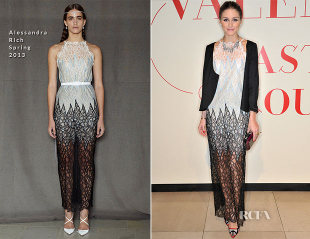 Olivia Palermo In Alessandra Rich - 'Valentino Master of Couture' Exhibition