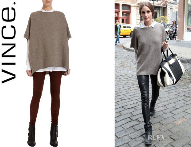 Olivia Palermo's Vince Short Sleeve Poncho