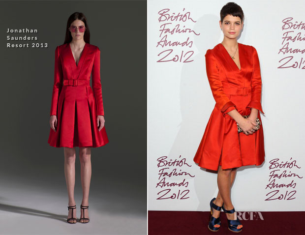 Pixie Geldof  In Jonathan Saunders - 2012 British Fashion Awards