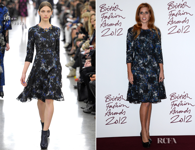 Princess Beatrice Erdem Fall 2012 - 2012 Bristish Fashion Awards