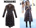 Rachel Zoe's Missoni Degrade Zigzag Long Cardigan
